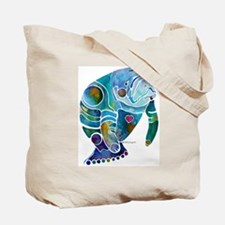 Manatees Endangered Species Tote Bag