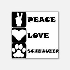 Peace Love Schnauzer Sticker