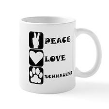 Peace Love Schnauzer Mugs