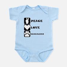 Peace Love Schnauzer Body Suit