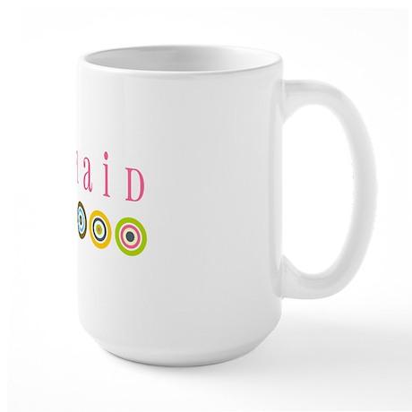 Retro Bridesmaid Large Mug