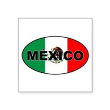 Mexico Flag Oval Sticker