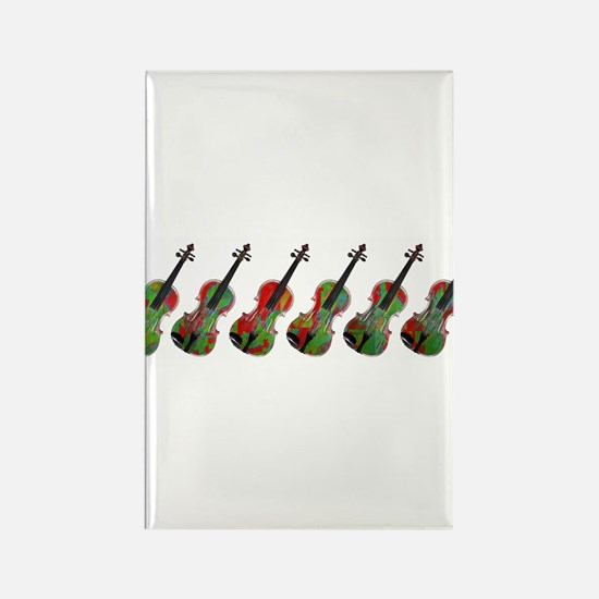 Violas on Parade Rectangle Magnet