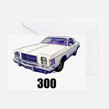 1979 Chrysler 300 t-shirt white Greeting Card