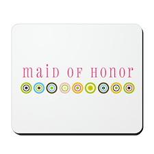 Retro Maid of Honor Mousepad