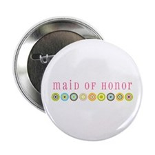 Retro Maid of Honor Button