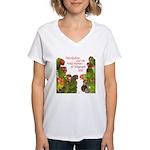 Wild Parrots Women's V-Neck T-Shirt