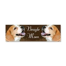 Beagle Dog Mom  Car Magnet 10 x 3