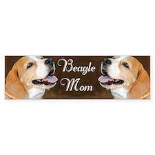 Beagle Dog Mom  Bumper Sticker