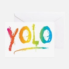 YOLO Bright Greeting Card