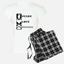 Peace Love Pekingese Pajamas