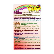 Cursillo DeColores Song Poster Decal