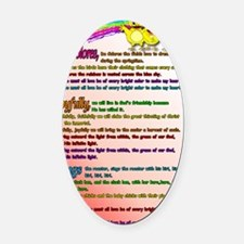 Cursillo DeColores Song Poster Oval Car Magnet