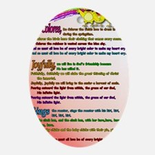 Cursillo DeColores Song Poster Oval Ornament