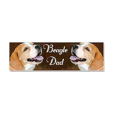 Beagle Dad Dog  Car Magnet 10 x 3