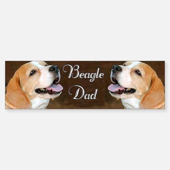 Beagle Dad Dog  Sticker (Bumper)
