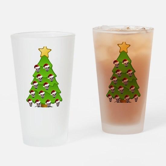 Monster Christmas Tree Drinking Glass