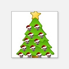 "Monster Christmas Tree Square Sticker 3"" x 3"""