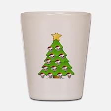 Monster Christmas Tree Shot Glass