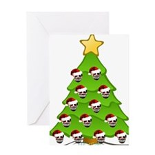 Monster Christmas Tree Greeting Card