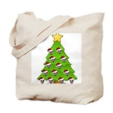 Monster Christmas Tree Tote Bag