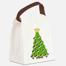 Monster Christmas Tree Canvas Lunch Bag