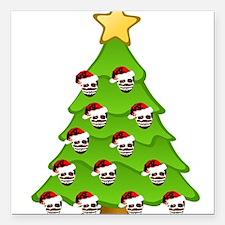 "Monster Christmas Tree Square Car Magnet 3"" x 3"""