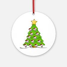 Monster Christmas Tree Round Ornament