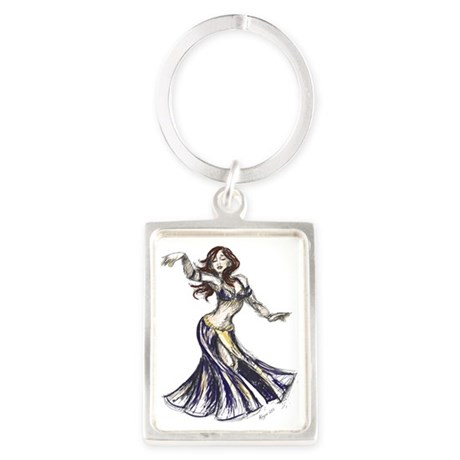 DancerColor-Transparent Portrait Keychain