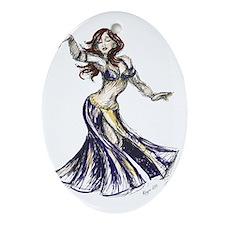 DancerColor-Transparent Oval Ornament