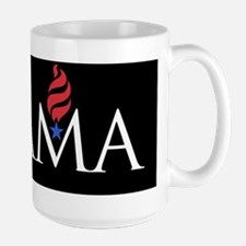 Obama_black_cap Large Mug