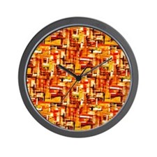 Autumn Weave Wall Clock
