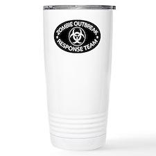 ZRT Black Oval Ceramic Travel Mug