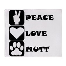 Peace Love Mutt Throw Blanket