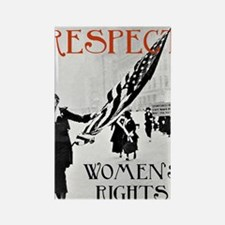 Respect Womens Rights2 Rectangle Magnet