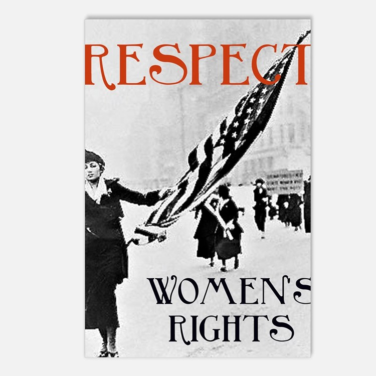 Respect Womens Rights2 Postcards (Package of 8)