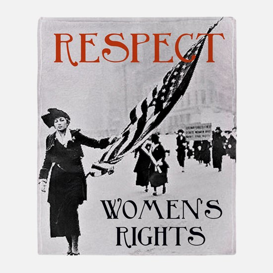 Respect Womens Rights2 Throw Blanket