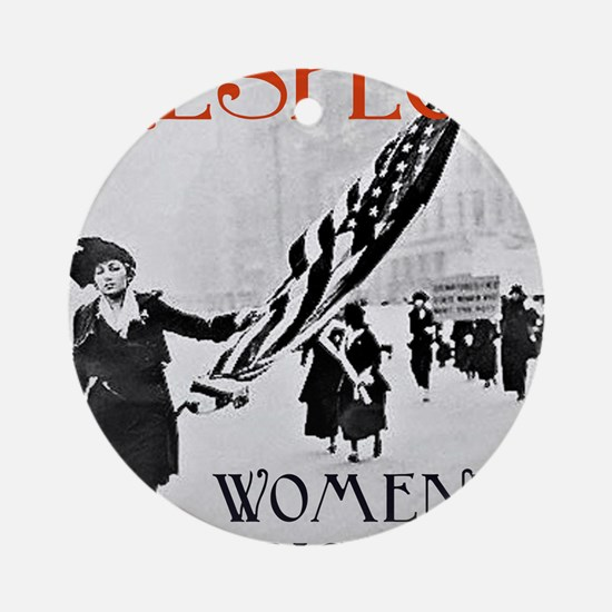 Respect Womens Rights2 Round Ornament