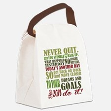 Never Quit  Canvas Lunch Bag
