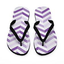Cute Purple Zigzag Chevron Flip Flops
