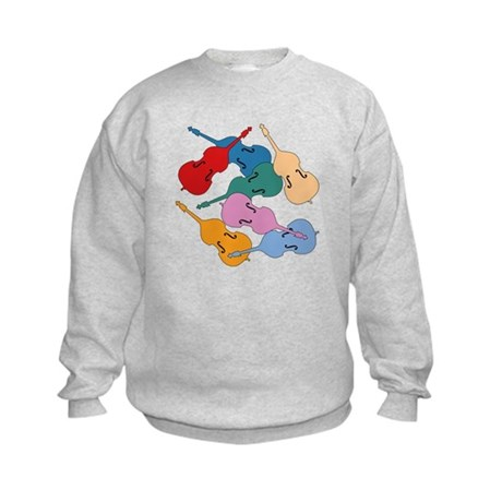 Colorful Double Basses - Kids Sweatshirt