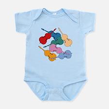 Colorful Double Basses - Infant Bodysuit