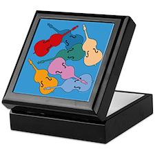 Colorful Double Basses - Keepsake Box