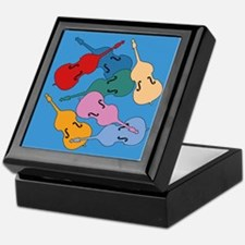 Colorful Double Basses - Keepsake Box