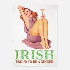 IRISH Proud to be a ginger copyx2 5'x7'Area Rug