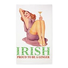 IRISH Proud to be a ginger copyx2 3'x5' Area Rug