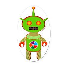 Colorwheel Bot Oval Car Magnet