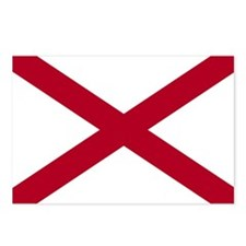 2000px-Flag_of_Alabama Postcards (Package of 8)