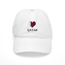 Qatar heart Baseball Cap