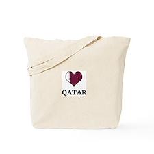 Qatar heart Tote Bag